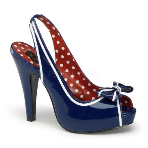 Blue Tacón white Navy De Bett05 nbpt Mujer Para Pleaser Zapatos qgvwxpI8