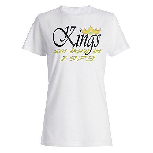 Lustige Neuheit-Boss-Könige werden 1973 geboren Damen T-shirt c412f