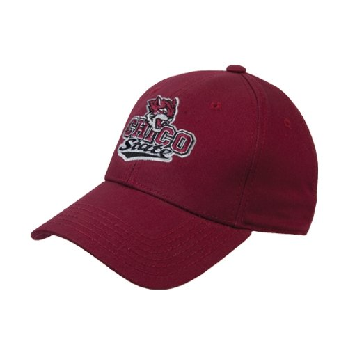 Chico State Maroon Heavyweight Twill Pro Style Hat 'Wildcat Head Chico State'