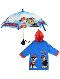 Little Boys Paw Patrol Character Slicker and Umbrella Rainwear Set, Age 2-7
