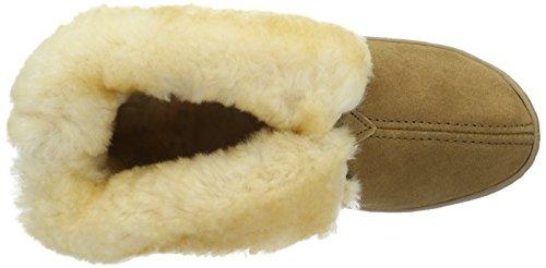 Minnetonka Sheepskin, Zapatillas Altas para Mujer Beige (Tantan)