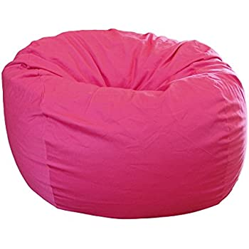 Ahh! Products Hot Pink Organic Cotton Large Bean Bag Chair