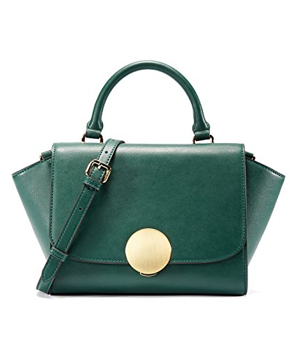 Hardware Bag Vintage Women Closure Deep Round Emini Trapeze Green House Handbag With W7ASBWYn