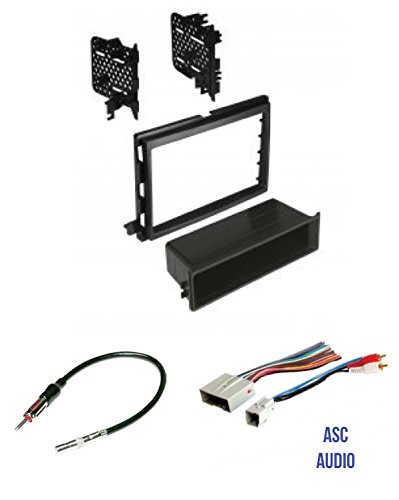 (ASC Audio Car Stereo Radio Install Dash Kit, Wire Harness, and Antenna Adapter to Install an Aftermarket Radio for some Ford Lincoln Mercury Vehicles)