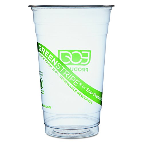 Eco-Products GreenStripe Compostable Cold Cups - 20oz. - Case of 1000 - EP-CC20-GS by Eco-Products, Inc
