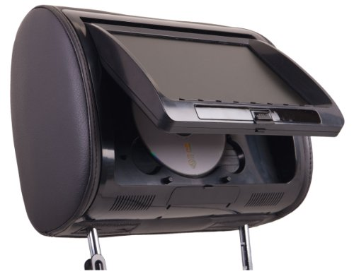 """SPL Shd-72ccp Universal Replacement Headrest Package Pre -Loaded w/ DVD Player & 7"""" LCD"""