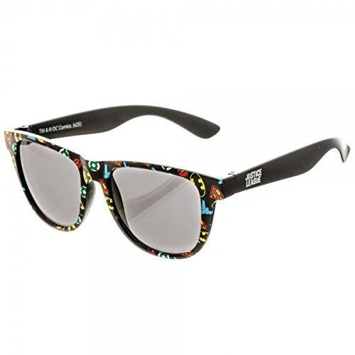 BIOWORLD DC Comics All Over Print Logo Sunglasses with Soft - Sunglass Logo