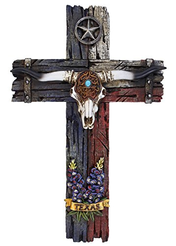 Cross with Longhorn, star and - Cross Wall Western