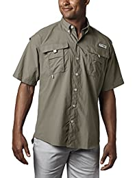 Men's PFG Bahama II Short Sleeve Shirt, Breathable with...