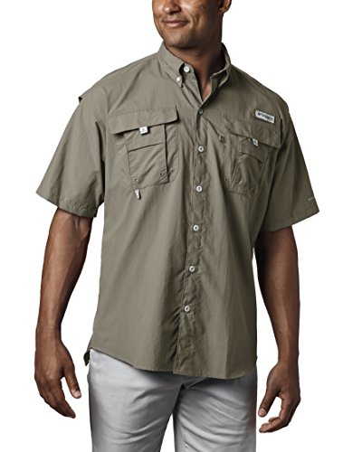 Columbia Men's PFG Bahama II Short Sleeve Shirt, Sage, Medium