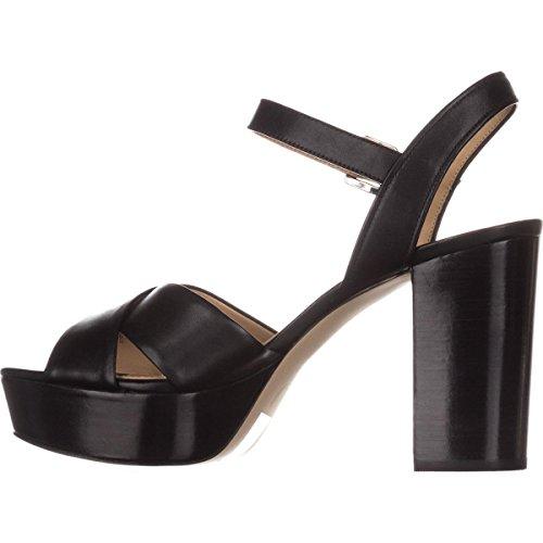MICHAEL Michael Kors Womens Divia Leather Open Toe Casual, Black, Size 11.0 by MICHAEL Michael Kors