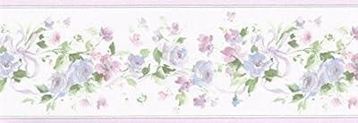 Purple Elegant Floral Wallpaper Border