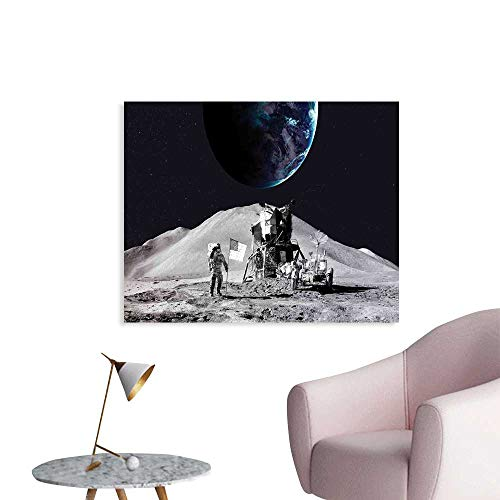 - J Chief Sky Outer Space Wall Sticker Decals Moon US Spaceman Launching on The Exploring Dark Matter Orbit Lunar Design Poster Home Decoration W20 xL16