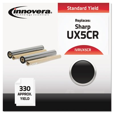 Innovera UX5CR Compatible Thermal Transfer Refill Ribbon, 2/Bx, Black (Innovera Thermal Transfer Refill Ribbons)