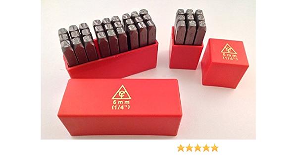 "6MM 1//4/"" LETTER Punch Stamp Set Metal 27 PIECE plastic case NEW 60-64 HARDNESS"
