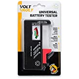 Battery Tester Checker - Battery Tester Monitor for AAA, AA, C, D, 9V and Small Batteries, Battery Life Level Testers w/Voltage Power Meter