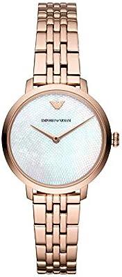 0e709751 Emporio Armani Ladies Rose Gold Plated Bracelet Watch AR11158 ...