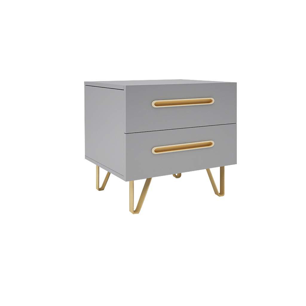 MinMin Gray Nordic Nachttisch Einfache Nachttischschrank Einfache Nachttischschrank Grau Nachttisch Beistelltisch