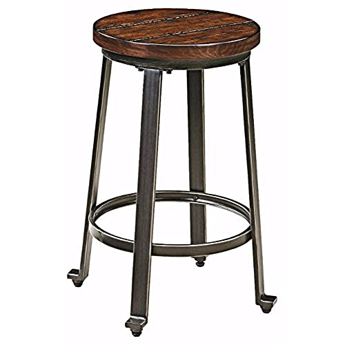 Exceptional Ashley Furniture Signature Design   Challiman Bar Stool   Counter Height    Set Of 2   Rustic Brown