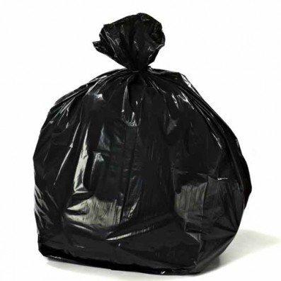 Plasticplace Black Garbage Bags 38x58 55 Gallon 75/Case 1.5 Mil [並行輸入品] B07GSMTQ1T
