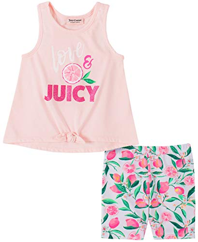 Juicy Couture Girls' 2 Pieces Bike Shorts Set