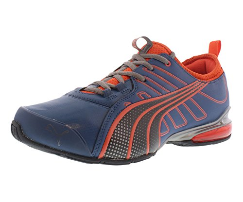 PUMA Men's Voltaic 4 SLS Running Shoe,Poseidon/Cherry Tomato/Black,12 D US