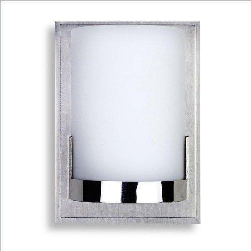 George Kovacs P5951-077, Convex, 1 Light Wall Mount, Brushed Aluminum