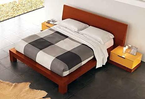 Letto Matrimoniale Ciliegio.Santarossa Kyoto Double Bed Cherry Finish Ky055 C Dim L 213