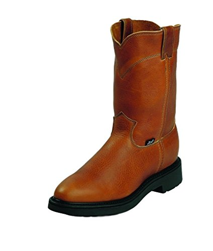 Jow Men's Justin Original Work Boot Pull-On Round Toe Copper