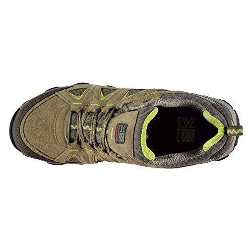 Damen Wasserdicht Full Lace bis Halterung Low Walking Schuhe, - Taupe/Green - Größe: 39