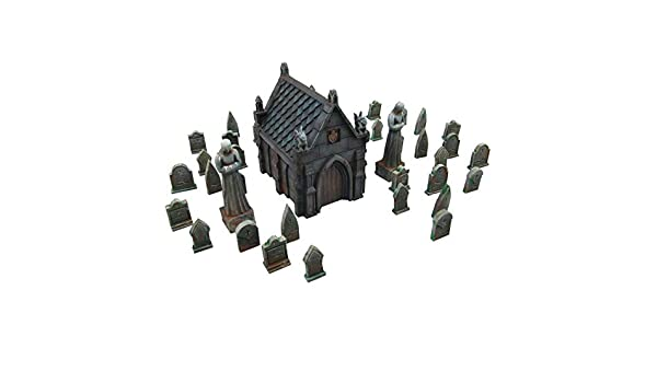 Mausoleum Graveyard Scene, Terrain Scenery for Tabletop 28mm ...