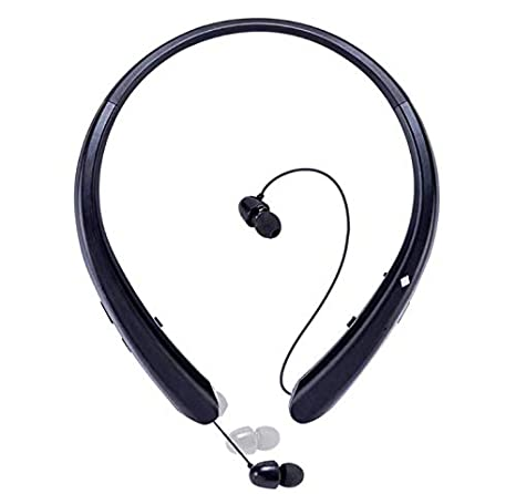 Sport Bluetooth Headphones,LISN Wireless Neckband Headset with Retractable  Earbuds,Stereo Sweatproof Noise Cancelling in Ear Earphones 7-8 Hrs