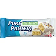 Pure Protein Bars, Healthy Snacks to Support Energy, Birthday Cake, 1.76 oz, 6 Count