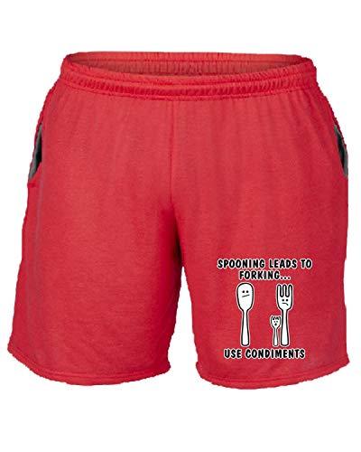 Tuta Rosso Trk0588 Pantaloncini shirtshock Iments T BqwU0EZx