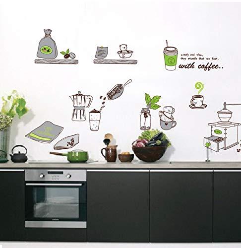 sansiwu Q Soy Sauce Msg Vinegar Kitchen Supplies Removable Wall Sticker PVC Transparent Film -