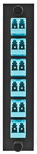 Hubbell HUBFSPLCDS6AQ Adapter Panel, 12-Fiber, 6 LC Duplex, Zircon Sleeves, Aqua by Hubbell