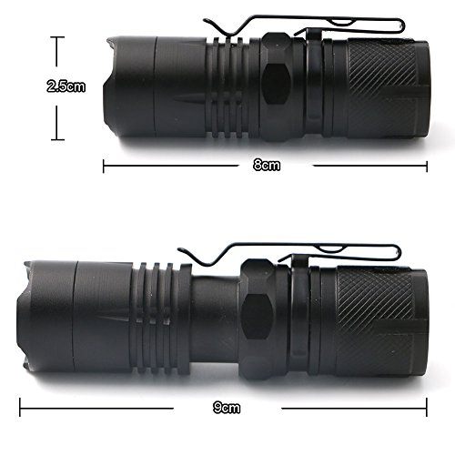 Ledsniper Pack of 3 Flashlights Camping, Hiking, Emergency, /& Kids 500 Lumens Small Flashlight Super Bright Zoomable Mini Pocket LED Flashlight with Clip 3 Modes for Outdoors and Indoors