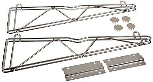 "John Boos CSWB-18-S Chrome Wire Shelving Single Wall Bracket, 18"" Depth"