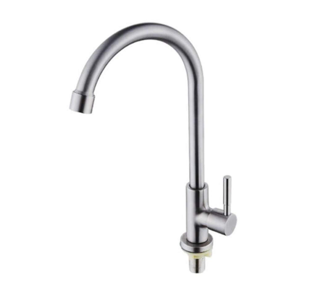 Taps Mixer Swivel Faucet Sink Kitchen Faucet 304 Stainless Steel Single Cold Sink Faucet redatable Sink Faucet