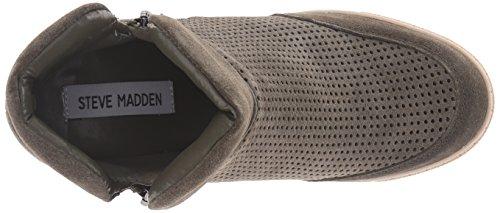 Steve Madden Linqsp zapatilla de deporte de moda Olive Suede