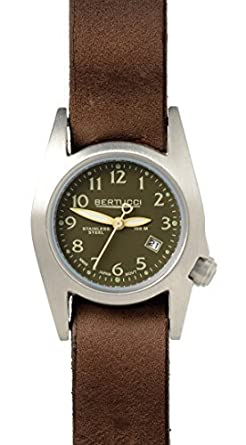Bertucci 18016 Unisex Edelstahl braun Leder Band Espresso Zifferblatt Smart Watch