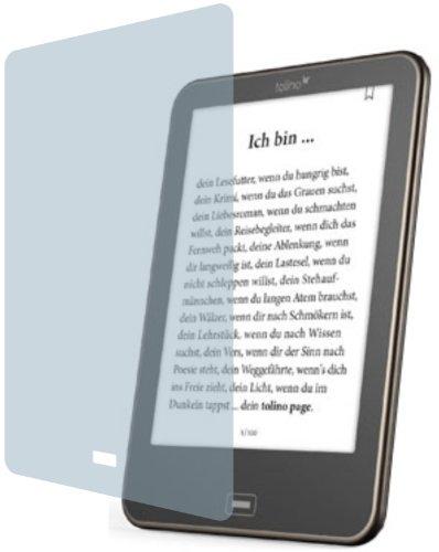 Tolino Vision 1, 2 und 3 HD PREMIUM Displayschutzfolie Bildschirmschutzfolie kristallklar von 4ProTec ( 2 Stück ) KRATZFEST UND PASSGENAU für den neuen eBook Reader von Weltbild, Thalia und Hugendubel