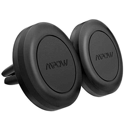[ 2 Packs ] Magnetic car mount, Mpow Air Vent Car Mount Magnetic Cell Phone Car Mount Universal Phone Mount Holder Car Cradle for iPhone X/XS/XS Max/XR/8/8 Plus Galaxy S9/S9 Plus/S8/S8 Plus/Note 8/Note 9 with 4 Metal Plates