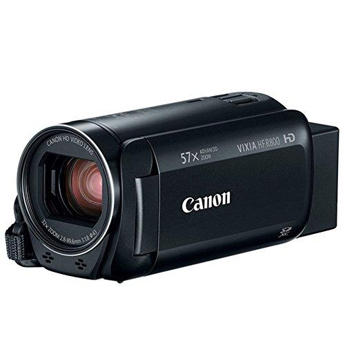 41vxD%2BT 0gL - Canon VIXIA HF R800 Camcorder (Black) + SanDisk 64GB Memory Card + Digital Camera/Video Case + Extra Battery BP-727 + Quality Tripod + Card Reader + Tabletop Tripod/Handgrip + Deluxe Accessory Bundle