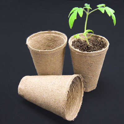 Jiffy 3'' Round Deep Peat Pots - OMRI LIsted Organic - 100ct