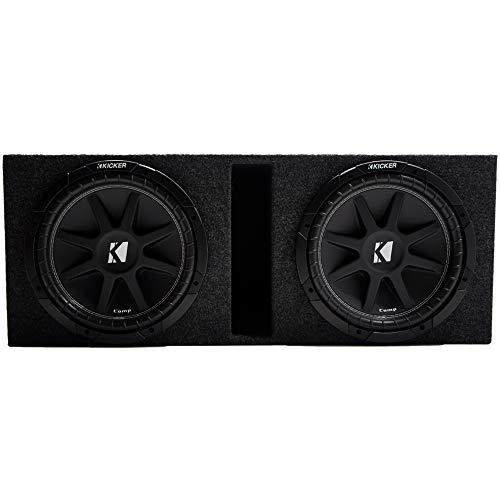 Kicker Comp Dual 12″ Vented Subwoofer Box Loaded Enclosure (10C12-4)