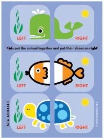Shoezooz - Educational Shoe Stickers for Kids - Sea Animals