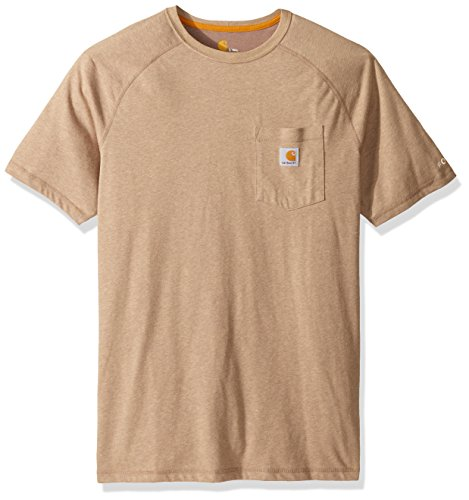 (Carhartt Men's Big Force Cotton Delmont Short Sleeve T-Shirt (Regular and Big & Tall Sizes), Desert Heather, 2X-Large Tall)