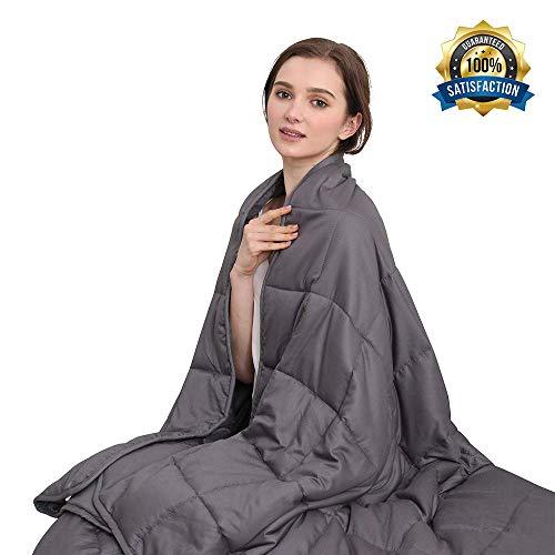 Cheap Panku Weighted Blanket-Cotton Shell Heavy Blanket-Encourage Deep Sleep (60 x80 20lbs Dark Grey Queen Size) Black Friday & Cyber Monday 2019