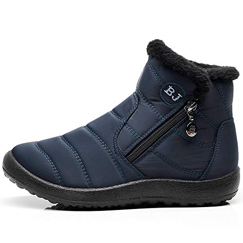 Durable Color : Navy , Size : 8.5 M US Toddler Non-Slip Boys Lace up Shoes Side Zipper Ankle Boots Toddler